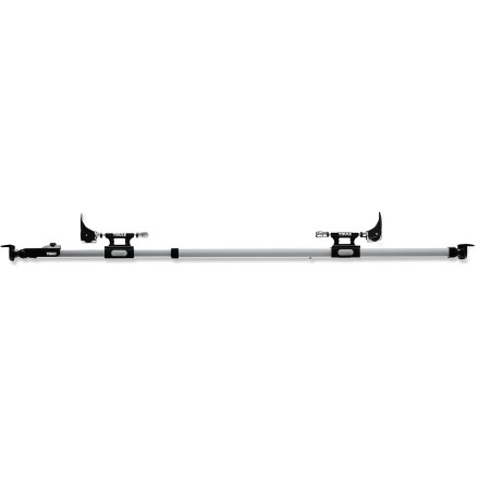 Camp and Hike The telescoping Thule Bed Rider truck rack allows 2 bikes to be transported securely without causing damage to pickup beds or to bikes. - $239.95