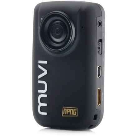 Entertainment The Veho Muvi HD10 camcorder captures your adventures in full 1080p HD resolution and offers a view screen, hands-free operation and a user-friendly interface. The Veho Muvi HD10 captures full 1080p HD video footage and snapshots with a wide-angle, 170deg lens. Camera is fun and easy to operate with a handy wireless remote control, self timer, exposure control, noise activation, touch panel and digital zoom. Wireless remote works up to 5m away from the camera. Sharp optical quality is provided by a 2.5cm minimum focal range, infinite maximum focal range, f/2.8 aperture, 400 ISO range and 1 lux minimum illumination. Video features: 30 frames per second (fps) at 1080p, 60 fps at 720p, MOV video format, loop recording, slow motion playback and 3x digital zoom (720p only). Audio features include a built-in mono microphone, 48KHz audio format and advanced audio coding (AAC). Take great still pictures with 8 megapixel resolution, single/treble/continuous photo modes, 5- and 10-second self timer, auto white balance, JPEG format and 3x digital zoom. Included 4GB microSD card can be upgraded to a 32GB microSD card (not included); 4GB card records approximately 60 - 90 min. of footage in 1080p. 1.5 in. LCD screen displays bright, rich color. USB 2.0, HDTV out and 2.5mm audio out provide easy connectivity for PC, Mac and compatible HDTVs. Rechargeable, 1,400 mAh lithium ion battery provides up to 3 hrs. of recording time on a full charge. Includes the Sensa remote control, 4GB SD card, a pouch, software, wrist strap, universal clip, a sports mounting kit, USB cable and adapter and helmet clip. - $209.95