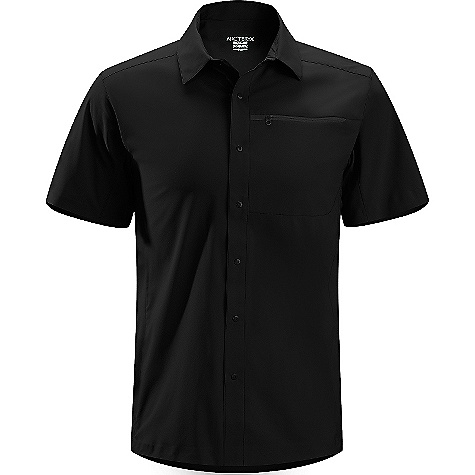 Camp and Hike On Sale. Free Shipping. Arcteryx Men's Skyline S-S Shirt DECENT FEATURES of the Arcteryx Men's Skyline Short Sleeve Shirt Moisture-wicking Breathable Lightweight Quick-drying Wrinkle resistant Articulated patterning for unrestricted mobility Articulated elbows (Long sleeve) No-lift gusseted underarms Chest pocket with hidden zip Laminated hem Short sleeves Front placket with tonal metal snap closures Non-chafing label Heat transfer logo UPF 35 + The SPECS Weight: Medium: 5.1 oz / 145 g Fit: Relaxed fit Materials: Invigor LT-100% polyester weave with mechanical stretch Style: Shirts/Tops Collared Activity: Casual/Urban / Hiking / Rock Climbing / Trekking This product can only be shipped within the United States. Please don't hate us. - $79.99