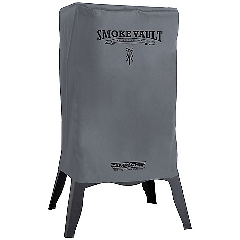 Camp and Hike Camp Chef Smoke Vault Patio Cover DECENT FEATURES of the Camp Chef Smoke Vault Patio Cover Protects your stove and grill Weather-resistant liner Bungee cords and hooks for wind protection Quality cover for patio or base camp The SPECS Box Weight: 2.25 lbs The SPECS for SMV18S Box Dimension: (L x W x H): 14.5 x 8 x 2in. The SPECS for SMV24S Box Dimension: (L x W x H): 17.25 x 8 x 2in. - $33.33