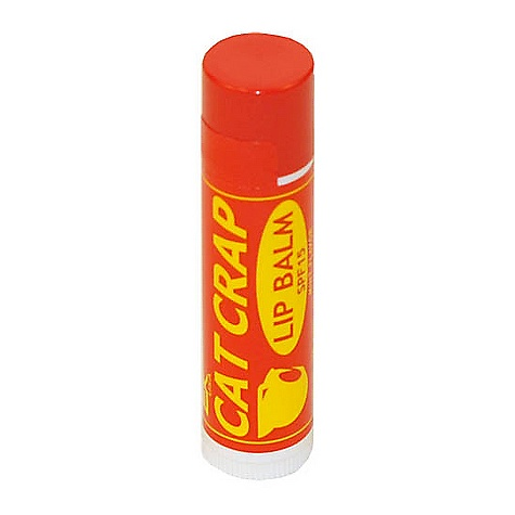EK Cat Crap Lip Balm The Lip balm by EK offers all weather protection. SPF-15 with a mint flavor and comes in a 15 oz. (4.2 g) rolling container. - $2.95