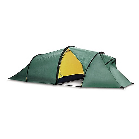 Camp and Hike Free Shipping. Hilleberg Nallo GT 3 Person Tent FEATURES of the Hilleberg Nallo GT 3 Person Tent Outer tent fabric is Kerlon 1200 and the poles are 9mm, which make tent very lightweight and give stability to tent Outer tent walls can be extended to the ground and mesh areas are backed with adjustable fabric panels Tunel construction provides maximum space to weight ratio which is an ideal choice for mobile journeys Ideal for 3 person use, but is comfortable for 2 people with gear Separable inner and outer tent for simultaneous pitching Tent requires four pegs for pitching, making tent quick and remarkably stable Single entrance tent with single vestibule configuration allows for easy entrance and storage space Rear outer wall provides better venting options Add on the optional footprint that will cover the entire tent and vestibule and can be left attached to the tent even when pitching Inner tent is replaceable by a mesh inner tent The outer or inner tents can be used separately by simply moving the detachable pole holder from the outer to inner tent Designed for short and long trips in less harsh environments and conditions in all seasons like the forests in winter and summer Great for withstanding heavy storms, but the lighter weight is not ideal on super harsh extended trips Capable of withstanding heavy storm conditions, and the lighter weight is why some experienced hikers take this along instead of a more durable, heavier tent Outer tent goes all the way to the ground for awesome all weather protection Designed using lighter weight zippers and inner tent and floor fabrics to keep the weight at a minimum - $885.00