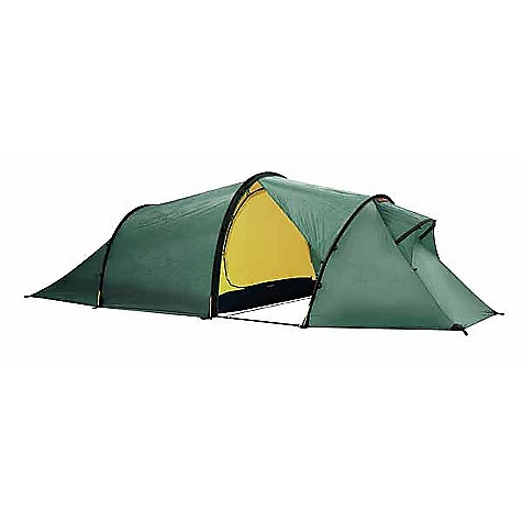 Camp and Hike Free Shipping. Hilleberg Nallo GT 4 Person Tent DECENT FEATURES of the Hilleberg Nallo GT 4 Person Tent Kerlon 1200 outer tent fabric and 9 mm poles - make for a supremely stable yet very lightweight tent Pitching requires only four pegs, yet additional peg and guy line points - 11 on the Nallo and 16 on the Nallo GT- provide a myriad of options for increasing stability. Remarkably strong Spectra guy lines are attached at two points on all pole sleeves on both sides of the tent. The front vent on the Nallo GT also has an attached guy line, and the Nallo's front vent has a loop for guy line attachment Both maximize interior space by having full sitting height closest to the front, where you need it most, as well as one vertical inner tent entrance, and, because of the tunnel design itself, near-vertical side walls A single entrance and vestibule afford easy access and plenty of storage space, but keep the weight very low. The Nallo GT's extended vestibule provides even more storage space The Nallo GT's extended vestibule has two entrances, one on the side and the other, up front, on the opposite side, thus providing maximum entry and exit flexibility The entire front of the Nallo GT's vestibule can be rolled away to create a tunnel-shaped opening which has full tent width and enough depth to keep all but the worst weather away from the inner tent door The inner tents in both the Nallo and Nallo GT models can be taken out and the Nallo Mesh Inner tents can be used instead The Nallo and Nallo GT's ventilation system functions regardless of weather conditions, thanks to their integrated components Highly breathable yet water repellent inner tent fabric The inner tent door has a full no-see-um mesh panel covered with an equal sized, zipper-adjustable fabric panel A large front vent in the vestibule is placed high enough to keep air moving even if the tent is dug down into deep snow The front vents are backed with an adjustable, air-permeable snow-proof panel that is accessible from inside the vestibule Adjustable fabric-backed no-see-um mesh panel vent in the rear wall of the inner tent The rear wall of the outer tent can be partially rolled up and guyed out for more venting options The SPECS Capacity: 4 Minimum Weight: 6 lbs 6 oz / 2.9 kg Packed Weight: 7 lbs 8 oz / 3.4 kg Inner Height: 46in. / 115 cm Inner Tent Area: 46.3 square feet / 4.3 square meter Vestibule Area: 34.4 square feet / 3.2 square meter Pole (9 mm): 1 x 144.9, 2 x 129.1in. / 1 x 368, 2 x 328 cm Pegs: 20 V-Pegs This product can only be shipped within the United States. Please don't hate us. Moosejaw CANNOT ship Hilleberg products to Japan, Hong-Kong, Korea, or any country in Europe. Sorry about everything. - $868.00