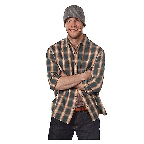 On Sale. Free Shipping. Horny Toad Men's Mojo LS Flannel DECENT FEATURES of the Horny Toad Men's Mojo Long Sleeve Flannel Two-piece collar Full-front button placket Patch chest pockets Bias back yoke Two-button cuffs Shirttail hem The SPECS Fabric: Mojo Flannel is 100% organic cotton - $38.99