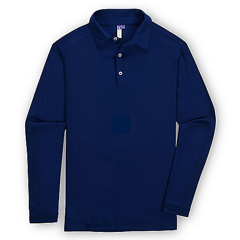 Free Shipping. Ibex Men's VT LS Polo DECENT FEATURES of the Ibex Men's VT Long Sleeve Polo Semi-fit 3 Button placket Back yoke with logo Fine stitch and sleeve design detail The SPECS Fabric: 100% Zque New Zealand Merino Wool 18.5 Micron Mid-weight Jersey 195 g/m2 - $124.95