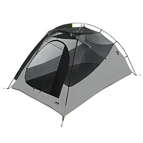 Camp and Hike Free Shipping. Nemo Espri LE 2 Person Tent DECENT FEATURES of the Nemo Espri LE 2 Person Tent A rear scoop vent keeps the rear vent deployed at all times, allowing low-to-high ventilation The vent construction is fully seam-taped and weatherproof Aggressive cutouts in the fly keep excellent tension and allow air circulation, even in the rain Interchangeable vestibules provide flexibility: the simple Ultralight Fly Door, Standard Vestibule, and the optional Trekking Pole Vestibule (shown) Optional Gear Loft with Light Pockets adds overhead storage without compromising floor space or elbow room The SPECS Capacity: 2 Person Minimum Weight: 4 lbs 4 oz / 1.9 kg On the Fly Weight: 3 lbs 2.3 oz / 1.4 kg Packed Weight: 5 lbs 4 oz / 2.4 kg Floor Dimension: 87 x 52in. / 221 x 132 cm Interior Height: 40in. / 102 cm Floor Area: 30 square feet / 2.8 square meter Vestibule Area: 9 square feet / 0.8 square meter Packed Size: 17in. x 7in. Packed Diameter: 43 x 18 cm Shell: Mesh / 30D PU Nylon Fly/Vestibule: 30D PU Nylon Ripstop Floor: 30D PU Nylon Ripstop (5000mm) Stuff Sack Style: Drawstring Frame: 3 Aluminum Poles Standard Vestibule Area: 9 square feet / 0.8 square meter Trekking Pole Vestibule Area: 21 square feet / 1.9 square meter Included Accessories: Drawstring style stuff sack, Ultralight Fly Door, Standard Vestibule, stakes, guy-out cord, repair kit Optional Accessories:Trekking Pole Vestibule, Footprint, Pawprint, Gear Loft OVERSIZE ITEM: We cannot ship this product by any expedited shipping method (3-Day, 2-Day or Next Day). Even if you pick that option, it will still go Ground Shipping. Sorry for being so mean. This product can only be shipped within the United States. Please don't hate us. Nemo products cannot be shipped to Japan. Please don't hate us. - $289.95
