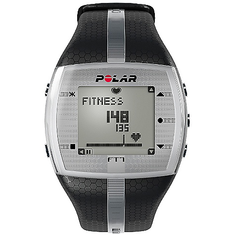 Fitness Free Shipping. Polar FT7 Heart Rate Monitor FEATURES of the FT7 Heart Rate Monitor by Polar The EnergyPointer tells you if the main effect of your training is fitness improvement or fat burning Displays calories burned Comes with comfortable WearLink + textile transmitter and has coded heart rate transmission to avoid cross-talk Connects to your online training diary at polarpersonaltrainer.com with optional Polar FlowLink Basic Features Backlight Graphical target zone indicator Heart rate (displayed as % of maximum heart rate) Heart rate (displayed as bpm) HeartTouch, button-free operation of wrist unit KeyLock Manual target zone (% / bpm) - upper limit Water resistant - 50m Data Transfer Compatible with polarpersonaltrainer.com with Polar FlowLink Language Features Display text in English, German, Finnish, French, Portuguese, Spanish and Italian Polar Exercise Features Average heart rate of total exercise Exercise Date Maximum heart rate of total exercise Polar EnergyPointer Polar OwnCal Polar OwnCode (5kHz) Wireless ECG accurate heart rate Recording features Average heart rate Calorie expenditure Exercise Time (total) Exercise file info page with date and time Maximum heart rate Number of exercise files (with summaries) - 99 Transmitter Belt WearLink + transmitter (user changeable battery) Watch Features Alarm with snooze Date and weekday indicator Dual time zone Low battery indicator StopWatch Time of day (12/24h) with alarm User replaceable battery Includes Manual Polar FT7 Polar WearLink + transmitter - $109.95