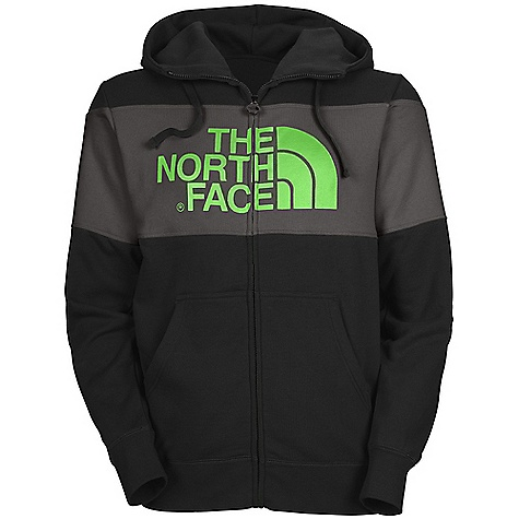 Free Shipping. The North Face Men's Barker Blocked Full Zip Hoodie DECENT FEATURES of The North Face Men's Barker Blocked Full Zip Hoodie Soft, comfortable, easy-care fabric Double-layered hood with drawcord Screen-printed graphic at chest Self fabric blocking at chest Kangaroo hand pocket 1x1 rib at cuffs and hem Embroidered logo at left chest Hood with drawstring closure Imported The SPECS Average Weight: 23 oz / 650 g Center Back Length: 27.25in. 280 g/m2 80% cotton, 20% polyester fleece This product can only be shipped within the United States. Please don't hate us. - $74.95