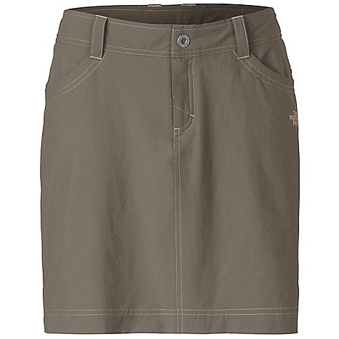 Free Shipping. The North Face Women's Taggart Skort DECENT FEATURES of The North Face Women's Taggart Skort Incredibly lightweight four-way stretch fabrication Quick drying Belt loops at waistband with snap closure Two front hand pockets One rear pocket with zip closure Fitted stretch knit under shorts attached under skirt Ultraviolet Protection Factor (UPF) 50 The SPECS Average Weight: 6 oz / 160 g Length: 16in. 90D 124 g/m2 (4.37 oz/yd2) 95% nylon, 5% elastane four-way stretch This product can only be shipped within the United States. Please don't hate us. - $64.95