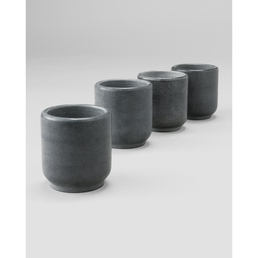 Entertainment Eddie Bauer Soapstone Shot Glasses - Like our popular Whiskey Stones, these shot glasses are made of nonporous soapstone, which effectively cools liquid without carrying flavor or odors from one use to the next. - $19.99