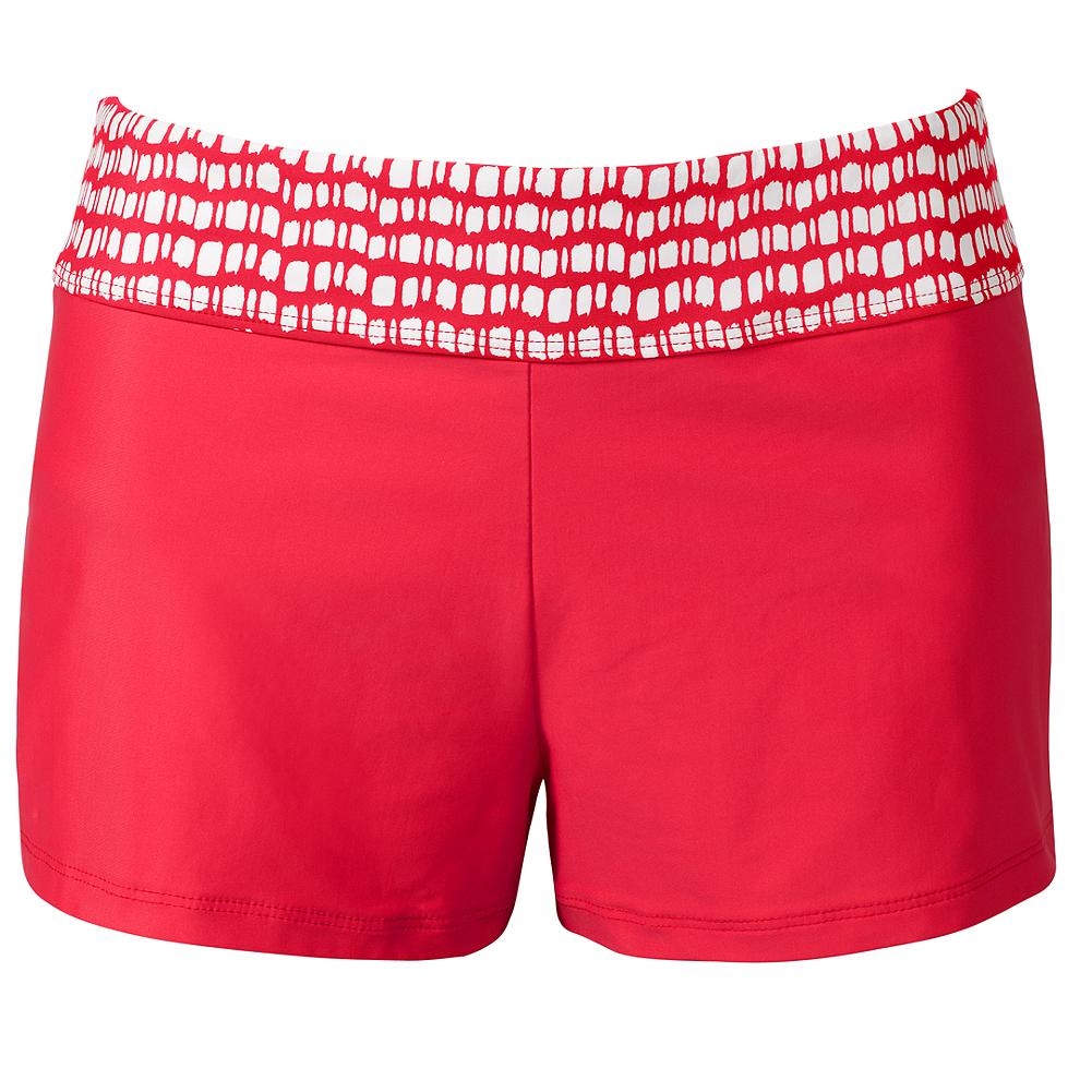 Next by Athena Paintbrush Banded Boy Shorts - Next by Athena's mix-and-match pieces enable you to create your own unique look. These boy shorts sit at the hips and are designed to provide a comfortable fit and full coverage for swimming and other athletic pursuits. Imported. - $4.99