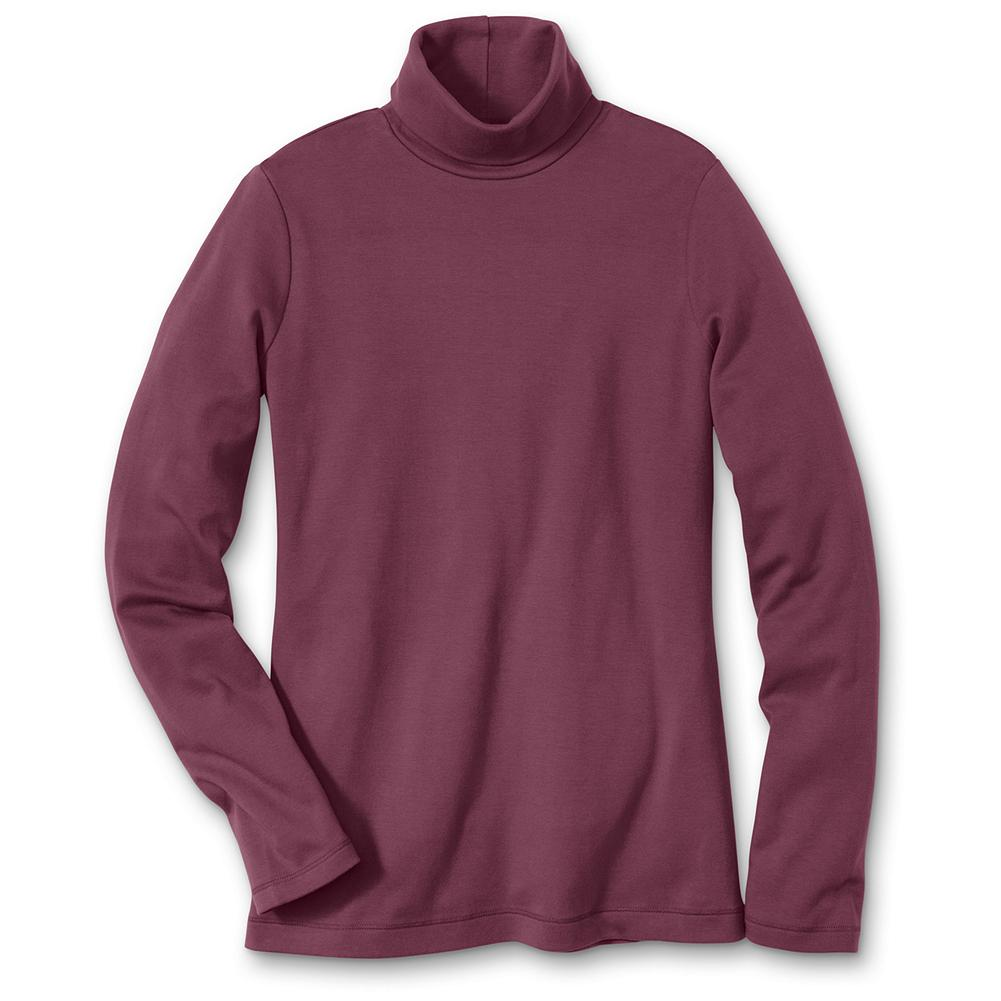 Eddie Bauer Basic Long-Sleeve Turtleneck - Legendary quality at a great price in smooth-wearing cotton interlock. Great for layering under sweaters. Imported. - $9.99