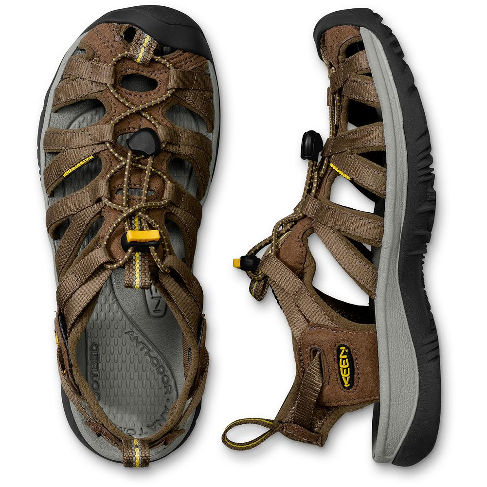Surf Keen Whisper Sandals - Performance meets a sleek, feminine look with a new narrower construction made specifically for a woman's foot. Metatomical EVA footbed and washable polyester webbing Elastic cord and land strap design for a secure, adjustable fit. Rubber outsole. Imported. - $39.99