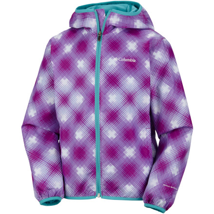 Parents, you can say 'Thanks' to Columbia designers for their Girls' Pixel Grabber Jacket. There's finally a compromise for your need to ensure your daughter is shielded from weather and her desire to wear a jacket that isn't blah. With bright color options and wild patterns, the windproof and water-resistant Pixel Grabber grabs attention and helps a young lady stand out ... in a good way. - $39.95