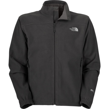 Fitness Skip the shell and get protection from the wind in a soft fleece jacket with The North Face Men's WindWall 1 Fleece Jacket. Windproof-rated at 14CFM, this jacket's 100-weight WindWall fabric provides excellent protection from the wind, yet it breathes when youre working up a sweat running, skiing, biking, or simply working in the yard on a windy day. The North Face has improved the Windwall 1 by bonding a layer of fleece to the inside of the jacket for extra-cozy warmth over a T-shirt or thermal layer. Cinch the hem drawcord to completely seal out the wind, and get outdoors. - $98.95