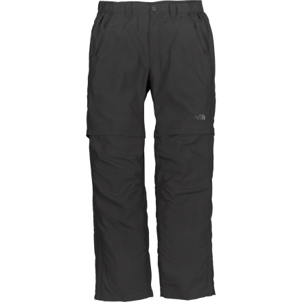 Climbing Save space in your pack on your next camping, climbing, or backpacking trip by taking the ultralight The North Face Men's Horizon Falls Convertible Pant with you. Weighing in at just a few hundred grams, this light, breathable, abrasion-resistant pant serves as a full-length pant and a ten-inch short depending on what you need at the moment. Articulated knees and a gusseted crotch let you easily work into your next climbing move or step onto a bus bound for Buenos Aires. And perhaps best of all, this pant's fabric is Bluesign-approved, which means it meets high standards for environmentally-friendly production methods. - $59.95