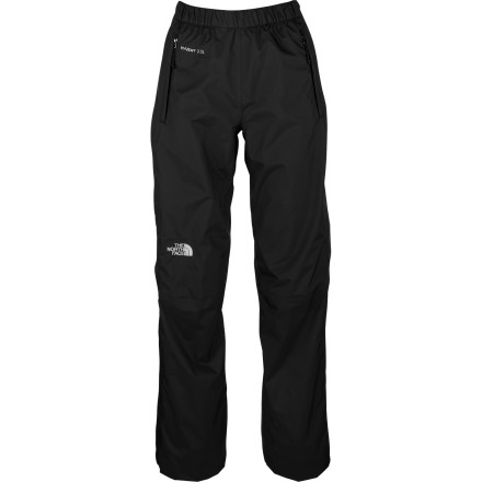 Camp and Hike The North Face Women's Venture Side Zip Pant keeps you dry and comfortable during day hikes and multi-day mountain adventures alike. Lightweight, waterproof, and breathable, the Venture Side Zip Pant features full-length, two-way side zippers that make it easy to get the pant on over hiking boots when inclement weather threatens. The North Face's waterproof breathable HyVent EC fabric ensures that you stay dry as you finish the last few miles of your trip in a total downpour. But perhaps, because you did prepare for the worst and carried the Venture pant in your pack, the weather gods will give you a break and allow you to leave it snug in your pack, all zipped up in its own front pocket. - $98.95