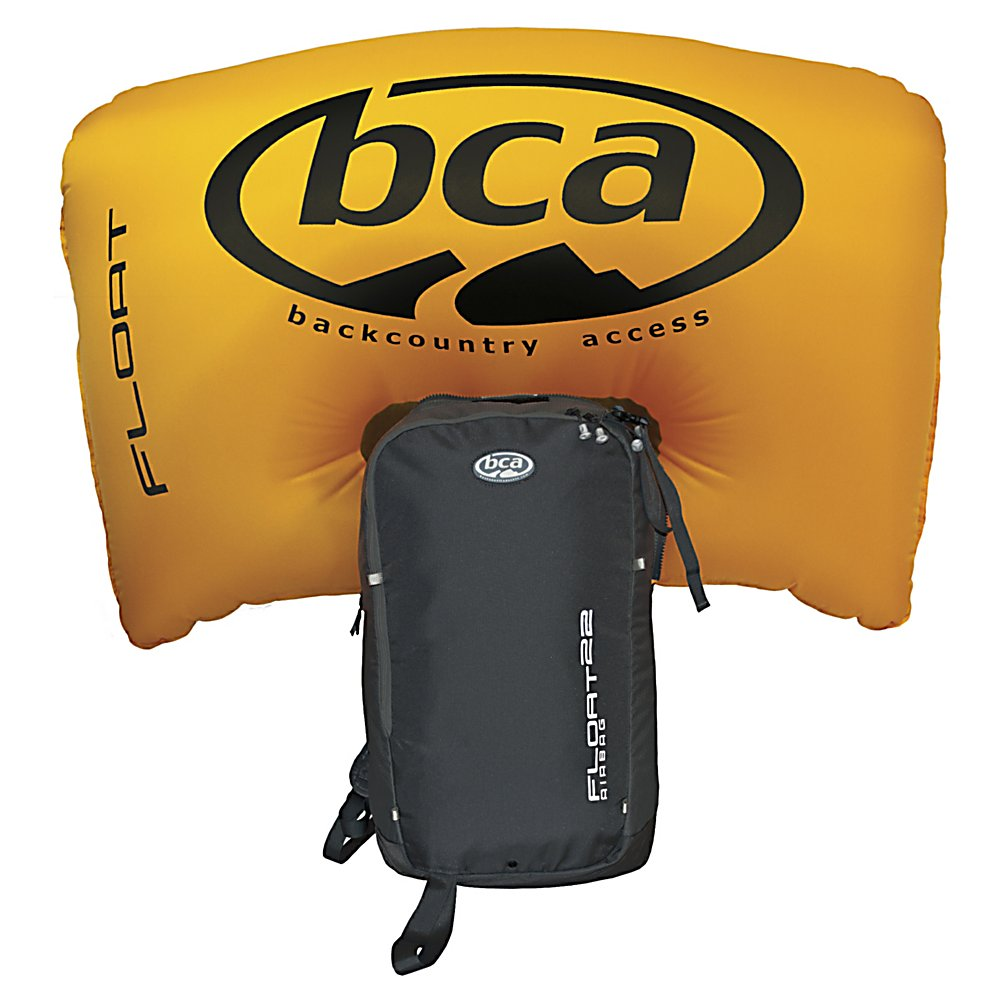 Ski Backcountry Access Float 22 Pack Backpack - The Backcountry Access Float 22 Pack is a backpack and airbag combo that was designed specifically for skiers. Featuring 1343 cubic inches of space for your belongings this lightweight pack has multiple pockets for storing additional gear such as shovel and probe pockets, waist belt pockets and a lined goggle pocket. The Float 22 pack from BCA also features an E-Z Pull trigger that is located on the left shoulder strap that allows you to deploy the airbag with your left hand while still controlling the throttle with your right hand. Features: BCA Float cylinder required for use. GTIN: 0857240002239, Model Number: FL-10000, Product ID: 280630, Model Year: 2014, Laptop Sleeve: No, Gear Volume: 22L, ID Tag: No, Size Dimensions: 19in x 10in x 5in, Padded Inside: None, Exterior Pockets: No, Weight of Bag: 5.8 lbs, Material: 330 Double Ripstop Nylon and 840 Ballistic Nylon, Use: Snow, Hydration Compatible: No, Waist Strap: Yes, Ski/Snowboard Carry: Ski, Goggle/Sunglasses Pocket: No, Warranty: Three Years - $299.96