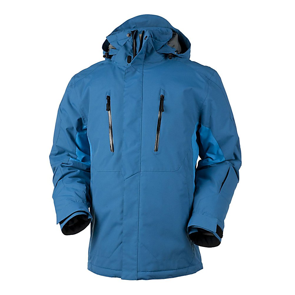 Ski Obermeyer Teton Tall 10K Mens Insulated Ski Jacket - The jacket that was designed for all-around riding, the Obermeyer Teton Mens Insulated Ski Jacket offers the latest technology to ensure you have the best day on the slopes whether you're on the local hills or skiing the mighty Tetons. The ComforMax Insulation prevents the loss of body heat trapping the warmth inside the jacket so that you can remain at the temperature you desire even in the frigid weather. You'll have plenty of pockets to stash your belongings whether it's a cell phone or goggle. A fleece chin protector helps prevent irritation while adding that extra hint of comfort. The high performer and speed demon needs a jacket that is suitable for their needs. Check out the Obermeyer Teton Ski Jacket and see how much more comfortable the ski season can be. Features: Inside mesh/stretch binding goggle pocket, Gusseted sleeve cuffs with adjustable tabs, Lycra inner cuffs with thumbholes. Waterproof Rating: 10,000mm, Breathability Rating: 10,000g, Hood Type: Removable, Pit Zip Venting: Yes, Pockets: 8-9, Electronics Pocket: Yes, Goggle Pocket: Yes, Powder Skirt: Yes, Hood: Yes, Warranty: Other, Waterproof: Moderately Waterproof (5000mm-19,999mm), Breathability: High Breathability (9000g-15,000g), Cuff Type: Velcro, Wrist Gaiter: No, Waterproof Zippers: No, Cinch Cord Bottom: Yes, Insulator: No, Model Year: 2012, Product ID: 233868, Insulation Type: Synthetic, Length: Long, Cut: Regular, Type: Insulated, Rain Jacket: No, Race: No, Battery Heated: No, Use: Ski, Taped Seams - $149.99