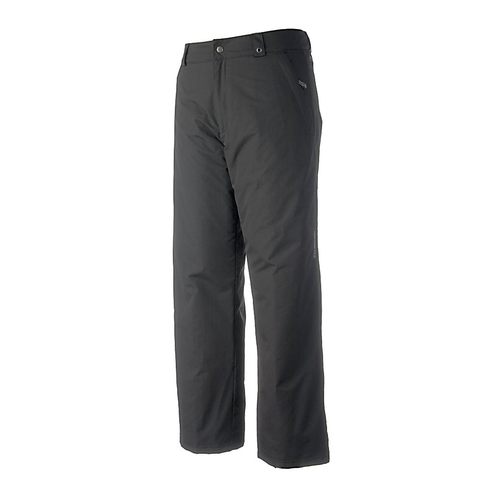 Ski Obermeyer Keystone Insulated Mens Ski Pants - The functional, freeride fit of Obermeyer's Keystone Mens Ski Pants boasts a HydroBlock coating. This breathable and waterproof polyurethane coating ensures that you'll stay dry, warm and comfortable all day on the mountain. If you're looking to dip your toes into snowboarding or skiing or you're looking for a comfortable pair of pants that won't empty your wallet, the Obermeyer Keystone Ski Pants are yours for the taking. Part of the Essential Line, you'll have to look no further when it comes to great features and functionality. . Exterior Material: Nylon with HydroBlock V, Softshell: No, Insulation Weight: 60 Grams, Taped Seams: Critically Taped, Waterproof Rating: 5,000mm, Breathability Rating: 5,000g, Thigh Zip Venting: No, Suspenders: None, Articulated Knee: No, Cargo Pockets: No, Warranty: Lifetime, Race: No, Waterproof: Moderately Waterproof (5000mm-19,999mm), Breathability: Moderate Breathability (4000g-8999g), Use: Ski, Type: Insulated, Cut: Full, Lining Material: Permaloft Needlepunch, Waist: Elastic, Pockets: 1-2, Model Year: 2012, Product ID: 236214 - $64.95