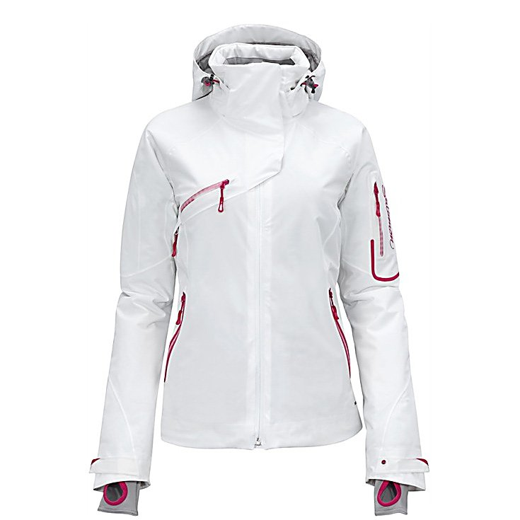 Ski Salomon Speed Womens Insulated Ski Jacket - The Salomon Speed Insulated Ski Jacket has warm insulation and stretch material for aggressive skiing down the mountain, and cold lift rides to get back up it. The fit is called - active, and that means that it fits a little closer, but isn't restricting. Combined with low-profile actiLoft insulation you get a really comfortable jacket that keeps you warm and stays out of your way. The Salomon Speed Jacket has plenty of pockets for you to fill with your gear. Features: Removable hood, Powderskirt, Left arm pass pocket, Lycra cuffs, External and internal pockets. Taped Seams: Fully Taped, Waterproof Rating: 20,000mm, Breathability Rating: 15,000, Hood Type: Removable, Pit Zip Venting: Yes, Powder Skirt: Yes, Warranty: Lifetime, Battery Heated: No, Waterproof: Totally Waterproof (20,000mm+), Breathability: High Breathability (9000g-15,000g), Cuff Type: Velcro, Wrist Gaiter: Yes, Waterproof Zippers: Yes, Cinch Cord Bottom: No, Model Year: 2012, Product ID: 266328, Insulator: No, Insulation Type: Synthetic, Length: Medium, Cut: Regular, Type: Insulated, Rain Jacket: No, Race: No, Use: Ski, Hood: Yes, Goggle/Sunglasses Pocket: No, Electronics Pocket: No, Pockets: 4-5, Insulation Weight: 100g, Softshell: No, Exterior Material: Climapro Storm - $199.94