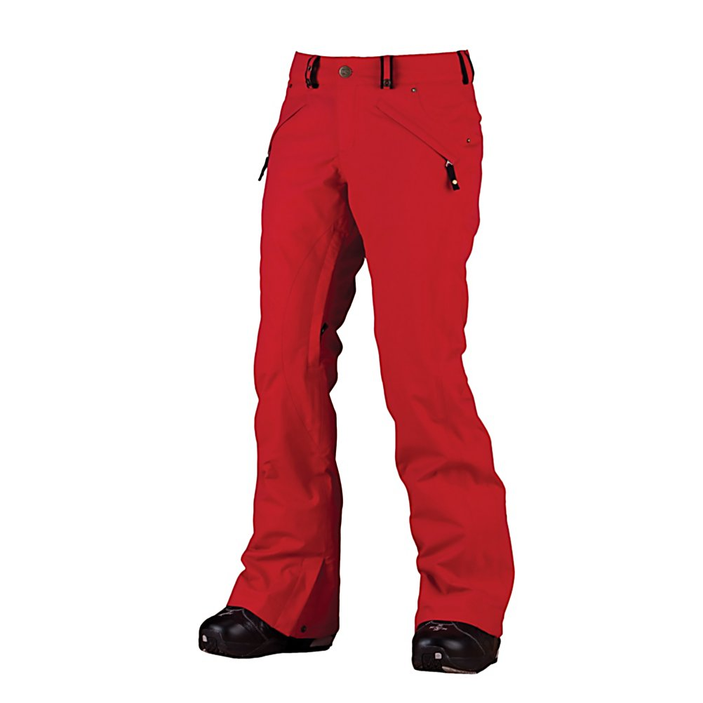 Snowboard Bonfire Echo Womens Snowboard Pants - The Bonfire Echo Pants are a great looking pair of pants at a very reasonable price. With a tailored fit the Echo will show off your curves thanks to the low rise cut with slim thighs and knees. The shell style will reduce bulkiness leaving you with a flattering fit. The Invis-Adjust Waist and belt loops will allow you to cinch in the waist if you need to. The Echo Pants keep you protected from the elements by allowing you to connect the pants to your jacket using the Snap-Tite system. This keeps the snow out when you are crashing and burning on the bunny hill or shredding the pow. The boot gaitors feature boot locks to hold the gaitors in place. With your gaitors secure you can utilize the Boa Window to get to your Boa Adjustment System on your snowboard boots for a quick and easy adjustment, with out having to remove your gloves or mittens. Features: Invis-Adjust Wasitband, BOA Window, Boot Locks. Exterior Material: Oxford Weave Fabric, Softshell: No, Insulation Weight: N/A, Taped Seams: Fully Taped, Waterproof Rating: 10,000mm, Breathability Rating: 8,000g, Full Zip Sides: No, Thigh Zip Venting: Yes, Suspenders: None, Articulated Knee: No, Low Rise: No, Warranty: One Year, Race: No, Type: Insulated, Cut: Regular, Waterproof: Moderately Waterproof (5000mm-19,999mm), Breathability: Moderate Breathability (4000g-8999g), Use: Snowboard, Type: Shell, Cut: Slim, Lining Material: Loft-Lite Fleece, Waist: Beltloops, Pockets: 3-4, Model Year: 2012, Product ID: 245251, Model Number: - $49.99