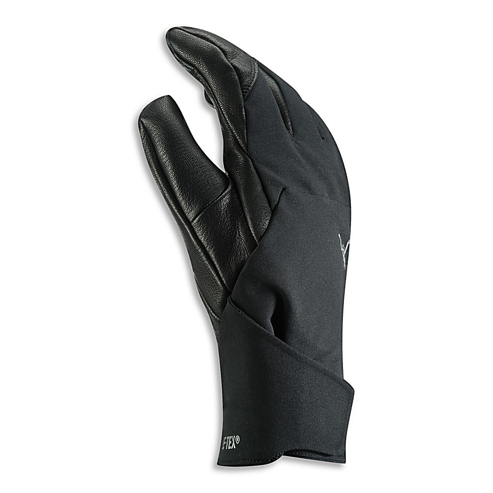 Ski Arc'teryx Zenta LT Womens Gloves - The Arc'teryx Zenta LT Ski Gloves are a high-performance and powerful pair of gloves that will keep your hands warm and comfortable when you're shredding the mountain. Made with GORE-TEX XCR 3L Fabric is waterproof and breathable so if your hands are sweating the breathability of these gloves will keep them dry while not permitting any outside moisture to get inside. Polartec Wind Pro High Loft Fleece boasts four times the wind protection of traditional fleece. Designed with Lezanova Leather which is wrinkle resistant is a treated goat leather to ensure that this glove remains tough and durable. When you want high-performance, warm and comfortable gloves for all your wintertime activities, then the choice is Arc'teryx Zenta LT Ski Gloves. . Removable Liner: No, Material: GORE-TEX XCR Technology, Warranty: One Year, Battery Heated: No, Race: No, Type: Glove, Use: Ski/Snowboard, Wristguards: No, Outer Material: Leather, Waterproof: Yes, Breathable: Yes, Pipe Glove: No, Cuff Style: Under the cuff, Down Filled: No, Touch Screen Capable: No, Model Year: 2013, Product ID: 274795 - $79.99