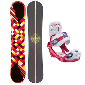 Snowboard Joyride Checkers Black Womens Snowboard and Binding Package 2013 - The JoyRide Checkers Black Snowboard is perfect for the new rider ready to tackle their first board. Its camber profile ensures you can have a little more control and edge hold so you can get used to the turns you need to make when traversing the mountain. It also has a little pop so feel free to test out some tricks that you've been meaning to try. A great entry-level board to help increase your confidence and skill level, the JoyRide Checkers Black Snowboard is a cute and fun option when you want a board to call your own as oppose to renting. Paired up with the Salomon Celeste binding you have a super fun package. The Salomon Celeste binding makes progression for women seem endless. Women of any ability can strap into this binding and have the time of their life on the mountain. Its lightweight design is due to the Slasher baseplate that allows Salomon to shave 100g (per pair) from their other bindings. Polycarbonate material allows for even freestyle flex while throwing down your favorite tricks on the hill. Women Specific Geometry matched with 3D Prime Core Straps give women a complete unified fit between boot and binding. EVA pads on the binding provide support and comfort while riding so that you can spend more time riding without feeling fatigued. The Celeste binding will make any women rider feel like a pro all day every day. . Recommended Use: All-Mountain Freestyle, Snowboard Rocker Profile: Camber, Package Type: Board and Bindings, Model Year: 2013, Product ID: 302104, Gender: Womens - $199.99