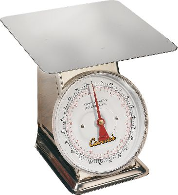 When you're prepping meat for processing or just weighing it out in portions for freezing, this scale will ensure you get the exact amount you're looking for every time. The easy-to-read dial measures from 0 to 110 pounds. Stainless steel construction makes it easy to clean and protects against rust and corrosion. The large flat weighing surface makes it ideal for weighing small portions and even entire meat tubs. - $99.88