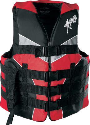 Wake Abrasion-resistant nylon shell with comfortable neoprene shoulders and sides. USCG-approved Type-lll PFD. Four buckles. Imported. Sizes: S/M, L/XL, 2XL/3XL.Colors: Blue, Red. Type: Flotation Vest. Size 2xl/3xl. Color Red. - $26.88