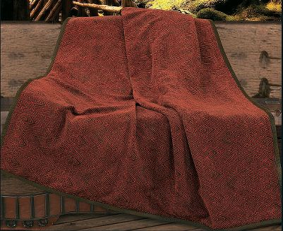 Entertainment Choose between two patterns on these throw blankets that complement any rustic cabin or home dcor. 50/50 polyester/cotton. Dry-cleaning is recommended. Per each. Imported.Dimensions: 60L x 50W.Available: Knitted Blanket Crafted of cozy cotton, this knit blanket features a Jacquard-style diamond pattern.Chenille Blanket Beautiful burgundy diamond pattern in soft, snuggly chenille. - $89.99
