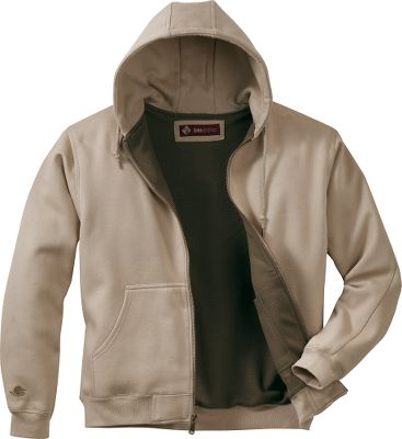 Hunting This heavyweight, 11-oz. Power Fleece polyester jacket with textured thermal lining throughout is warm, soft and durable. Articulated elbows and three-piece hood give you ease of movement. Internal media pocket. Heavy-duty metal zipper. 80/20 cotton/polyester. Imported. Tall sizes: L-2XL. Color: Sawdust. - $34.99