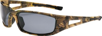 Hunting Perfect for sun-drenched activities, the polarized lenses block 100% of the suns UV, A, B and C rays, and they filter out 99.9% of reflective glare, so you can easily see structures and fish beneath the water. Bold, wrap-style sunglasses offer a natural fit that stays in place during any outdoor adventure. Acetate lenses are proven impact-resistant to ANSI Z80.3 standards. Sizes: S/M (Stealth), M/L (Sledge).Available: Sledge - Smoke Lenses/Camo Frames, Stealth - Smoke Lenses/Camo Frames. - $29.99