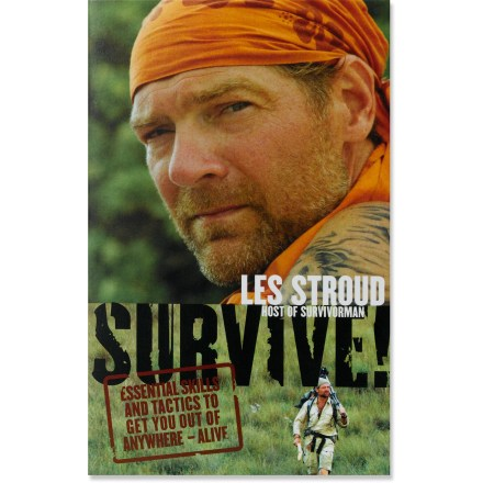 "Brimming with no-nonsense expertise from ""Survivorman"" host Les Stroud, SURVIVE! leads you through the essential skills and techniques needed to weather unexpected situations in the wilderness. - $19.95"