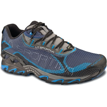 Fitness Waterproof and well-cushioned, the La Sportiva Wildcat 2.0 GTX trail-running shoes offer a stable, neutral ride for fast-paced trail pursuits. - $155.00