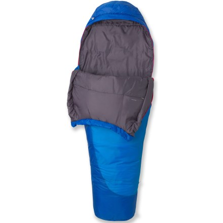 Camp and Hike Designed for 3-season backpacking, this women-specific sleeping bag provides lofty warmth, low bulk and excellent packability; plus, it continues to insulate even if wet. - $88.93