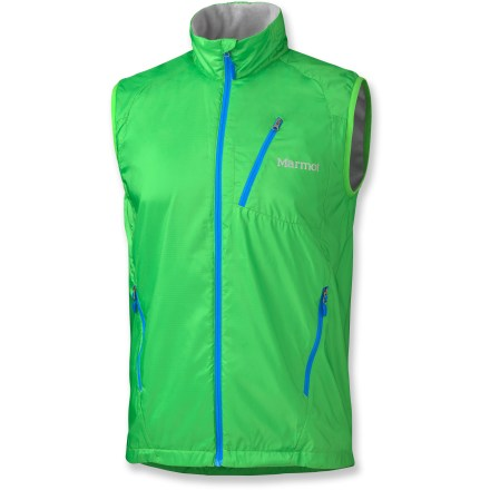 Fitness The Marmot Stride vest suits those in-between days when running with a jacket is too warm but it's too cold to go without an outer layer; a vest provides optimal breathability and coverage. - $44.83