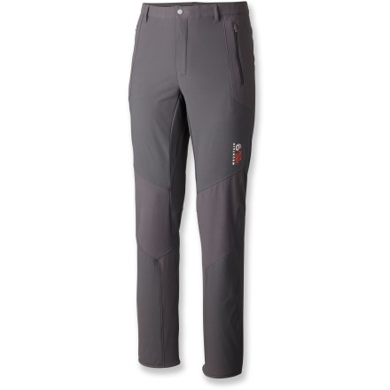 Camp and Hike Built for those seeking the ultimate in lightweight durability, the Mountain Hardwear Warlow Hybrid pants with 32 in. inseam are ready to go the distance as you reach higher and go farther. - $74.83