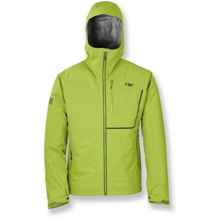 Climbing Innovative, lightweight and extremely breathable, the Outdoor Research Axiom storm-shell jacket is engineered for fast and light alpine climbs and all-day lapping of untracked slopes. - $186.93