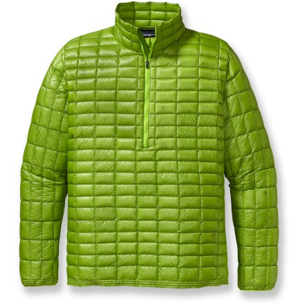 The new Ultralight Down Shirt from is Patagonia's lightest weight insulation. It has a slim silhouette for thermal efficiency and a finish that sheds wet weather. The versatile Ultralight Down Sweater is a winter mid layer, a summer belay jacket and a shoulder-season stand-alone shell. Made from nylon ripstop and premium 800-fill-power goose down, it provides a luxurious feel and pack-to-nothing compressibility. Deluge(R) Durable Water Repellent finish sheds snow. Sewn-through construction, tight channel patterning and just the right amount of down increase versatility for use in moderate temperatures and diverse activities. Design simplicity complements the function, from high-output endeavors to recovery evenings in the yurt. Silhouette is minimal and features a quarter-length zipper to reduce bulk and weight. Compact, self-fabric stuff sack included. 100% recyclable through Patagonia's Common Threads Recycling Program-simply return your worn-out item to Patagonia. - $123.83