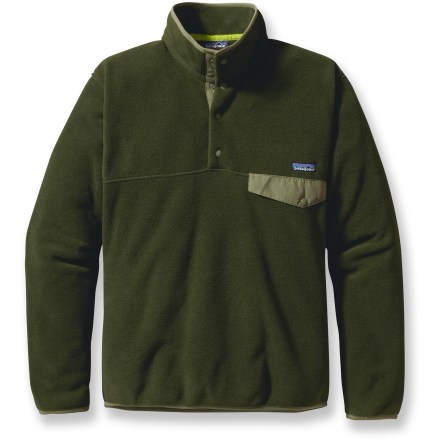 Camp and Hike Warm yet lightweight, the men's Snap-T fleece pullover delivers classic Patagonia style and versatility for all kinds of activities. - $99.00