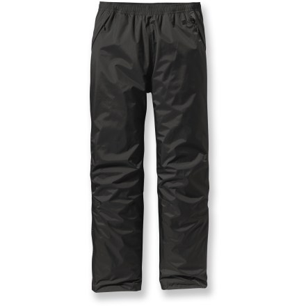 Be prepared, rain happens! The men's Patagonia Torrentshell pants are an absolute must when dark skies threaten to ruin your fun. - $73.93