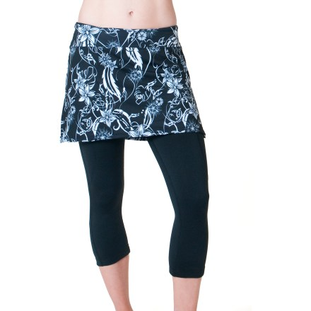Fitness The SkirtSports Cruiser Bike Knickers skirt is an athletic skirt with technical cycling knickers underneath for a modest yet fashionable look when cruising on 2 wheels. - $54.83