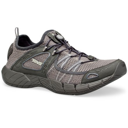 Fitness Covering ground in water or on the trail, Teva Churn men's water shoes offer grippy traction and quick-draining performance. - $44.83