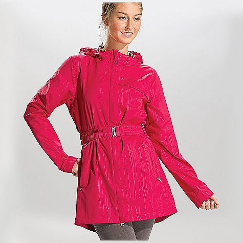 Free Shipping. Lole Women's Stratus Jacket DECENT FEATURES of the Lole Women's Stratus Jacket Belted jacket with center front zip Attached 2-way-adjustable hood 2 hand zip pockets Fully seam sealed Passport pocket inside Length: 34in. / 86.5 cm - $179.95