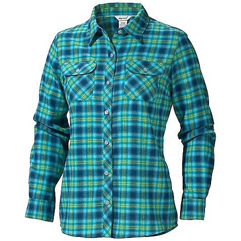 Free Shipping. Marmot Women's Southshore Flannel LS DECENT FEATURES of the Marmot Women's Southshore Flannel Long Sleeve Soft, Comfortable, Mid-Weight Performance Woven Fabric with Twill Texture Technical Hollowcore Flannel for Thermal Properties Without the Weight Ultraviolet Protection Factor (UPF) 30 Quick-Drying and Wicking Durable Flat Felled Seams with Contrast Interior Stitch Shirt Tail Hem Double Chest Pockets and Back Yoke on Bias The SPECS Weight: 7.8 oz / 221.1 g Material: 100% Hollow Core Polyester Flannel 3.8 oz/yd Fit: Regular - $74.95