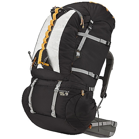 Camp and Hike Free Shipping. Mountain Hardwear BMG 105 Backpack DECENT FEATURES of the Mountain Hardwear BMG 105 Backpack Versatile Alpine suspension provides outstanding stability, comfort and support Low-profile FitLock hipbelt provides custom fit and outstanding support to ensure comfort with heavy loads Removable horizontal stay behind hipbelt provides enhanced load transfer Highly functional Alpine Compression Strap System with glove-friendly buckles secures overloads, effectively shrinks pack to minimal volume, and tucks away inside front panel pocket when not needed Skirt extension adds 625 cubic inches / 10L of carrying capacity when needed FlapTop design allows pack to be used without the top lid with no compromise in compression or weather protection The SPECS Body: 420D HD Nylon accent: HardWear X-Ply Ripstop Bottom: 840D HT Ballistic Nylon The SPECS for Small Weight: 5 lbs / 2.27 kg Capacity: 5800 cubic inches / 95 liter Torso Range: 15.0in. - 18.0in. / 38 - 46 cm Waist Belt Size: 27.0in. - 31.0in. / 69 - 79 cm The SPECS for Medium Weight: 5 lbs 3 oz / 2.35 kg Capacity: 6400 cubic inches / 105 liter Torso Range: 17.0in. - 20.0in. / 43 - 51 cm Waist Belt Size: 30.0in. - 35.0in. / 76 - 89 cm The SPECS for Large Weight: 5 lbs 6 oz / 2.44 kg Capacity: 7000 cubic inches / 115 liter Torso Range: 19.5in. - 22.5in. / 50 - 57 cm Waist Belt Size: 34.0in. - 39.0in. / 86 - 99 cm - $349.95