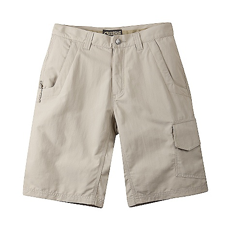 Features of the Mountain Khakis Men's Granite Creek Short - 11 Inch Inseam Scotchgard Treatment UVA-UVB 50+ 6 Pockets with Mesh Pocket Bags 3 Zip Security Pockets, Cargo Pocket Quick-dry, Lightweight and Packable Inseam Action Gusset YKK Zippers Triple-Stitched Seams - $47.99