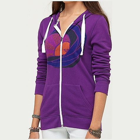 Surf On Sale. Roxy Women's White Sky Hoodie DECENT FEATURES of the Roxy Women's White Sky Hoodie 75% Cotton 25% Polyester French Terry 230 gms Zip up hoodie with graphic and color blocking on FLM and WAV 26in. Hps - $28.99
