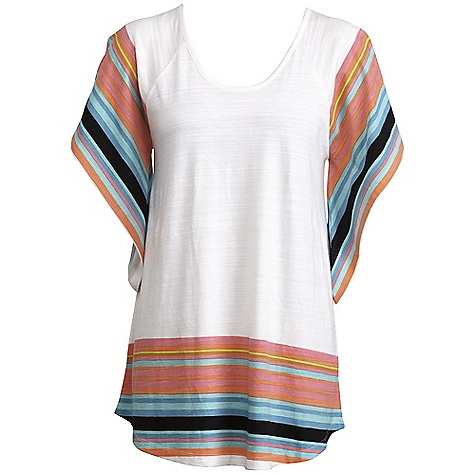 Surf On Sale. Roxy Women's Beach Blanket Coverup DECENT FEATURES of the Roxy Women's Beach Blanket Coverup 100% Cotton Slub Jersey Oversized slub jersey shirt coverup with raglan sleeve and stripe Detail at bottom hem and sleeve 34in. Hps - $34.99